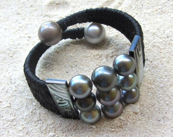 Tahitian pearls - HEI POE bracelet