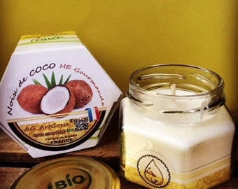 Coconut gourmet natural candle with essential oils