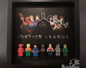 Lego DC Superheroes Justice League Minifigure Display Frame Gift Black