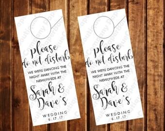 Door Hanger - Wedding Welcome Bag - Thank you bag