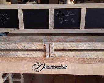 étagère murale bois avec ardoise