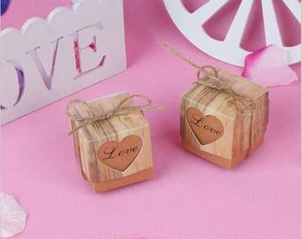 50pcs,Heart Wedding Boxes//Wedding Favor//Wedding favor Boxes//Wedding Candy Paper Box//Gift Box// Wedding Gift//Treat Box,baby Shower
