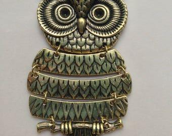 pendants 1pc charm OWL 98mm antique bronze lead free