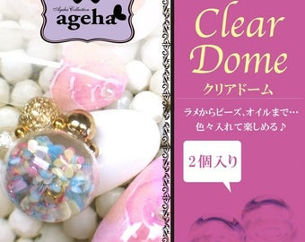 Ageha Collection: Glass clear dome nail art
