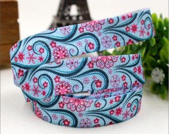 1 meter of Ribbon elastic flower design
