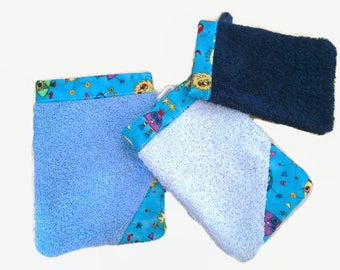 Washcloths for baby/toddler - little theme learning monsters