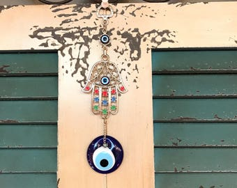 Hamsa Evil Eye Protection Wall Decor