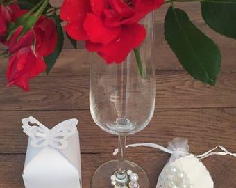 wine glass charms, gifts, weddings, birthdays, christenings