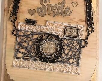 Camera String Art
