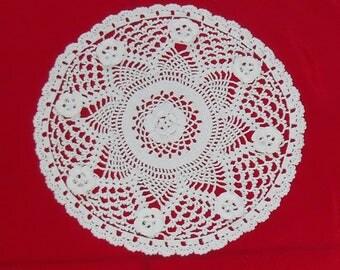 handmade white cotton lace doily nenuphare