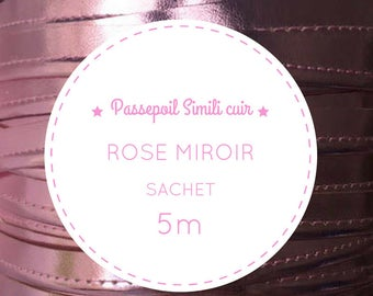 Sachet 5 m - candy pink leather piping