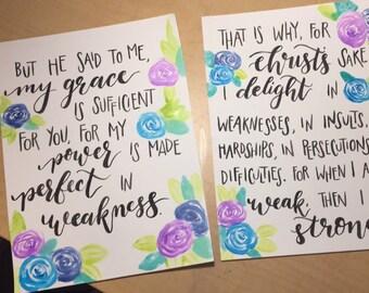 2 Corinthians 2: 9-10 Prints