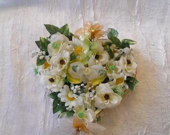 Heart shaped wedding table centerpiece