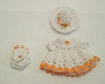Mini dress sets, mini top hat and mini crochet bag