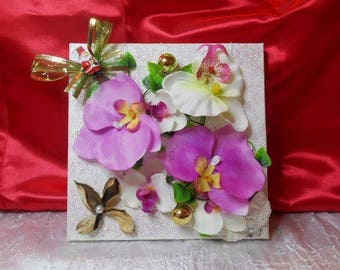 Art print floral Orchid /nouvelle years Christmas gift