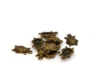 10 Ladybug charms
