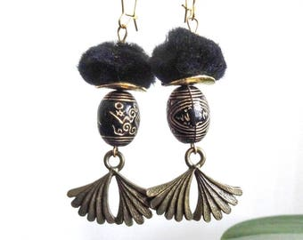 """To offer or offer """"Phang"""" (ethnic chic) Asian Style earrings"""
