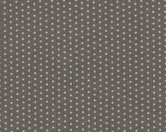 Ruffled polka dot storm sky fabric