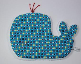 Doudou flat stuffed whale.