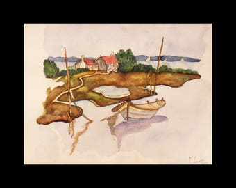 Watercolor and its rustic banks