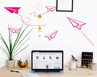 Paper Planes Wall Decal-Nursery Wall Decals-Plane Wall Stickers-Dorm Decor-Plane Vinyl Decals-Boy's room wall decor-Kids decal-Wall decor