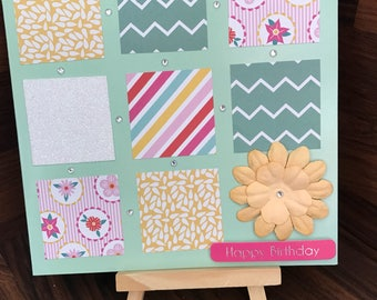 Patchwork Square Birthday Card