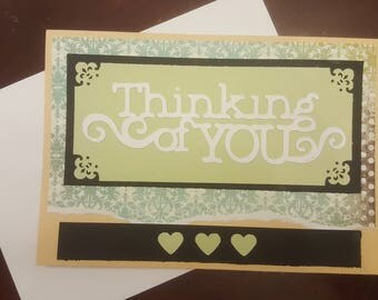 Handmade Thinking of You Greeting Card. Encouragement. Friendship.
