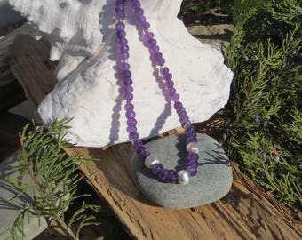 Amethyst / Sterling Silver Necklace