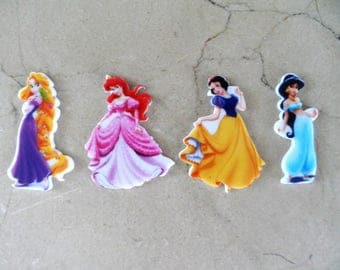 "4 appliques to paste ""The Princess"" 45 mm"