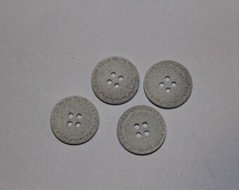 supplies fired earth light gray round button sewing notions