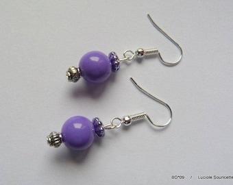 BO * 09 earrings pearl purple