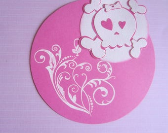 Card for birth, birthday girl or decoration