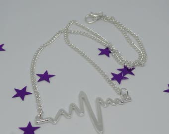 Necklace with a silver heart pendant