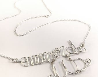 """Ass"" funny pun message mood necklace"