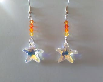 Starfish Swarovski Crystal star earrings