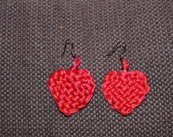 Red Celtic heart earring