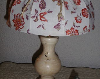 Small old lamp restored and patina