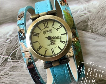 Ladies size watch. S summer 2018 round bronze bracelet trend blue