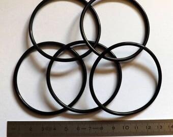 set of five small rubber bracelets