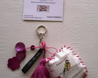 """""""bird"""" key chains and charms"""