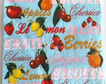 20 napkins - fruit every day REF.   36