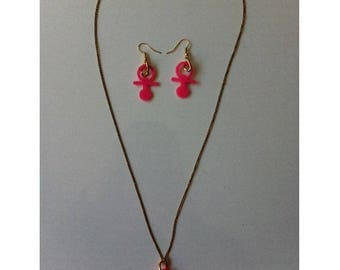 Chain with clasp + pacifier by BAGART earrings