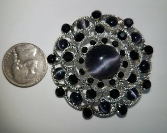 black moonstone brooche
