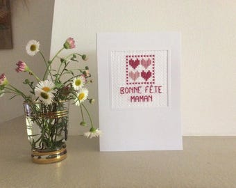 Card with embroidery to say his love...