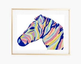 Abstract Zebra Print,Instant Download PRINTABLE art, Wall art, Wall decor, Printable Decor