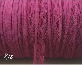 Lace elastic pink color