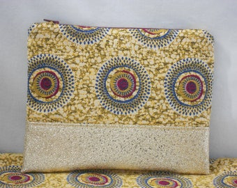 clutch/pouch makeup/Bohemian chic leather dorel/birthday/gift