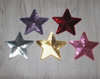 Star sequin patch