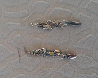 Dangling earrings with Murano beads