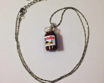 """Liquid polymer clay necklace """"clay has spread"""""""